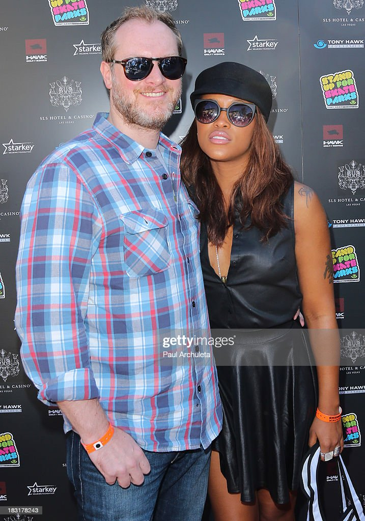 Maximillion Cooper (L) and Eve (R) attend the 10th Annual Stand Up For Skateparks benefiting the Tony Hawk Foundation on October 5, 2013 in Beverly Hills, California.