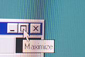 Maximize option on computer screen
