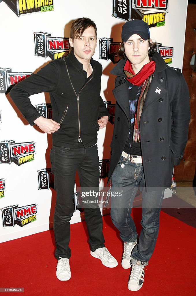 Maximo Park arrive at the Shockwaves NME Awards 2007