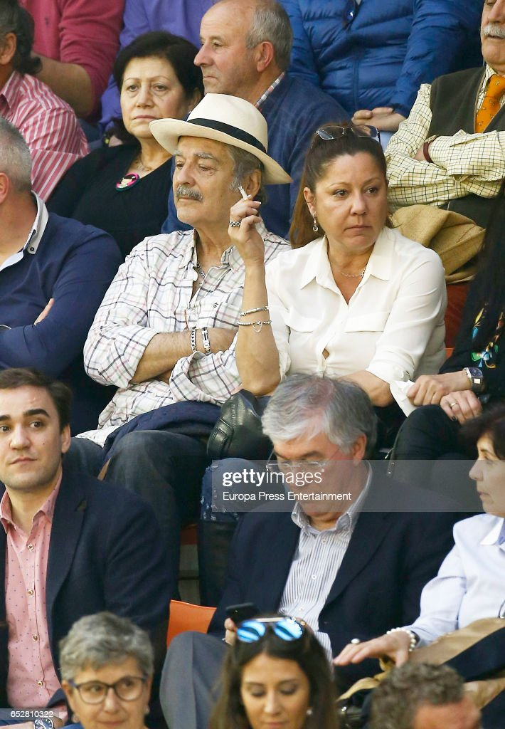 Maximo Valverde attends the traditional Spring Bullfighting performance on March 11, 2017 in Illescas, Spain.