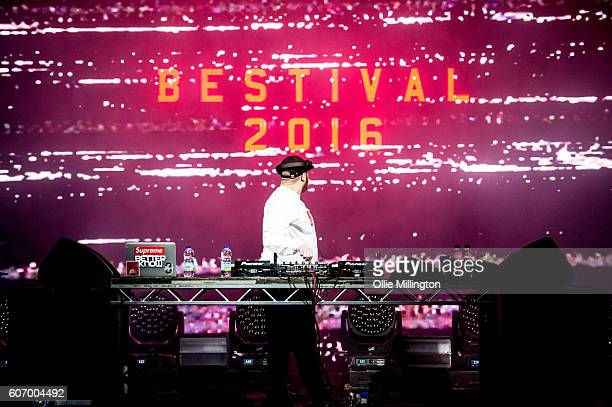 Maximum performs on the mainstage with Skepta during the 2nd day of Bestival 2016 at Robin Hill Country Park on September 10 2016 in Newport Isle of...