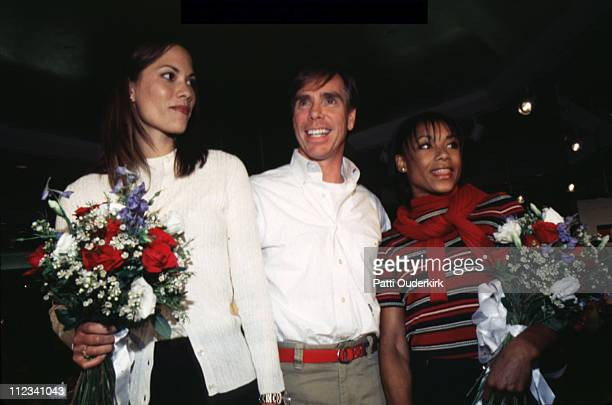 Maxine Bahns Tommy Hilfiger Dominique Dawes during Tommy Hilfiger Fashion Show 1091996 at Macy's Herald Square Store in New York City New York United...