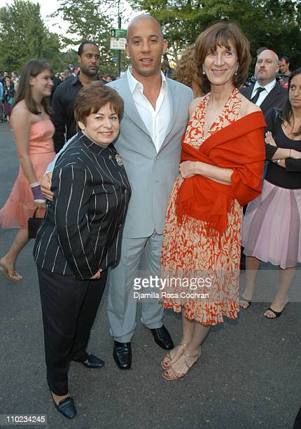Maxine Clark Vin Diesel and Jenny Morgenthau during 'BuildABear Workshop' at Fresh Air Fund Spring Gala 2005 Inside at Tavern on the Green in New...