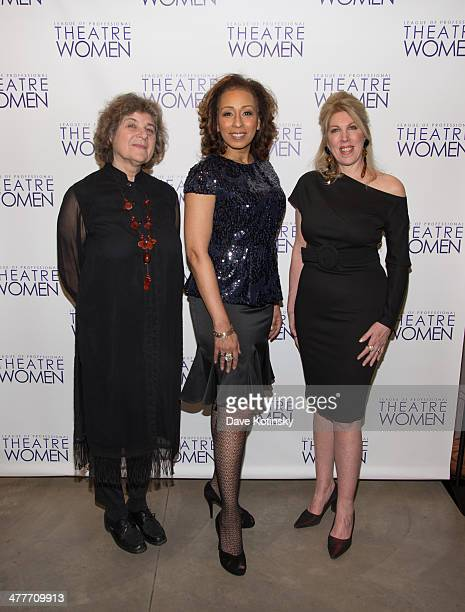 Maxine Kern Tamara Tunie and Lorca Peress attends League Of Professional Theatre Women awards at The Pershing Square Signature Center on March 10...