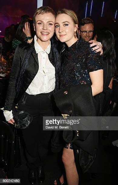 Maxine Peake and Saoirse Ronan attend The Moet British Independent Film Awards 2015 after party at Old Billingsgate Market on December 6 2015 in...
