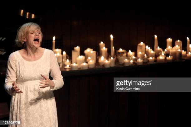 Maxine Peake performs Percy Bysshe Shelley's 'The Masque of Anarchy' in rehearsal for The Manchester International Festival at the Albert Hall...