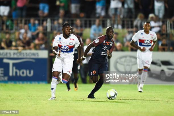 Maxwel Cornet of Lyon and Jonathan Ikone of Montpellier during the Friendly match between Montpellier Herault and Olympique Lyonnais on July 30 2017...