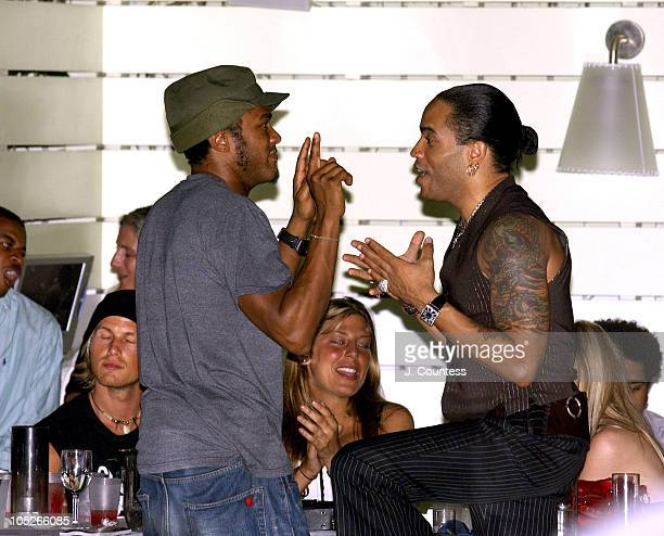 Maxwell and Lenny Kravitz during 2004 Miami Winter Music Conference Debi Nova at Delano Under the Stars at Delano Hotel in Miami Florida United States