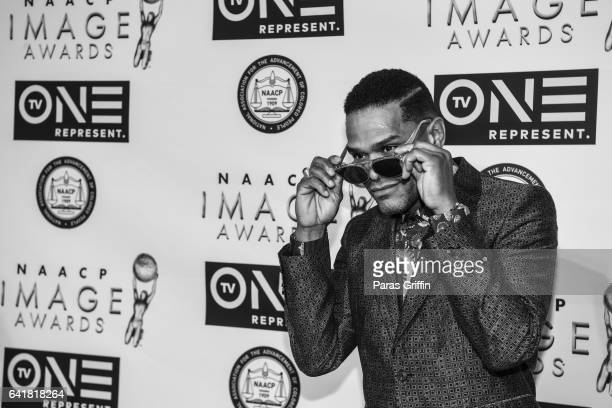 Maxwell attends 48th NAACP Image Dinner at Pasadena Convention Center on February 10 2017 in Pasadena California