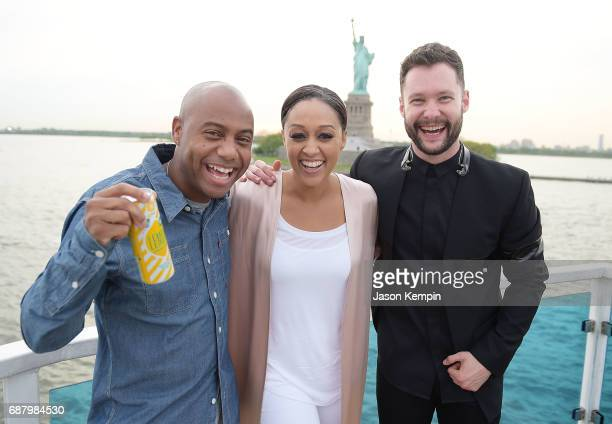 Maxwell Brand Ambassador Tia Mowry and music artist Calum Scott attend 'Picnic Time Off' to celebrate the global launch of LEMON LEMON on the...