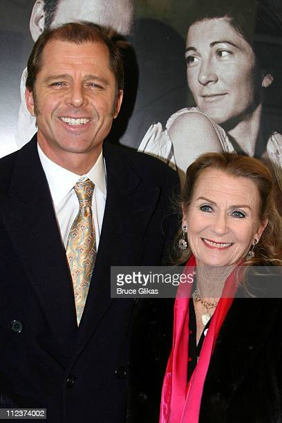 Maxwell Caulfield and Juliet Mills during 'A Moon for the Misbegotten' Broadway Opening Arrivals at The Brooks Atkinson Theatre in New York City New...
