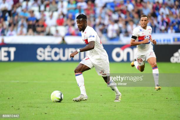 Maxwell Cornet of Lyon during the Ligue 1 match between Olympique Lyonnais and FC Girondins de Bordeaux at Groupama Stadium on August 19 2017 in Lyon