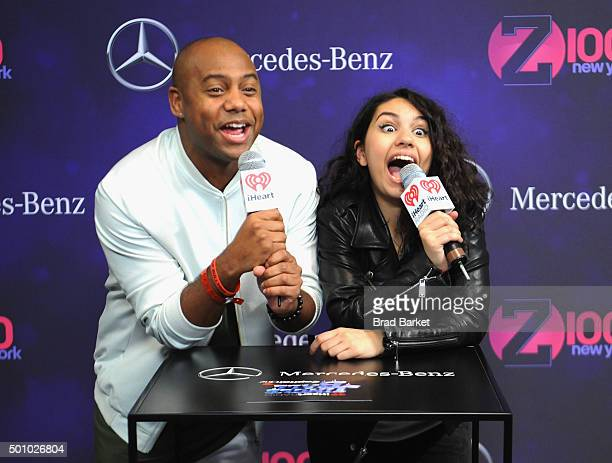 Maxwell Jones and Alessia Cara attend Z100's Jingle Ball 2015 at Madison Square Garden on December 11 2015 in New York City