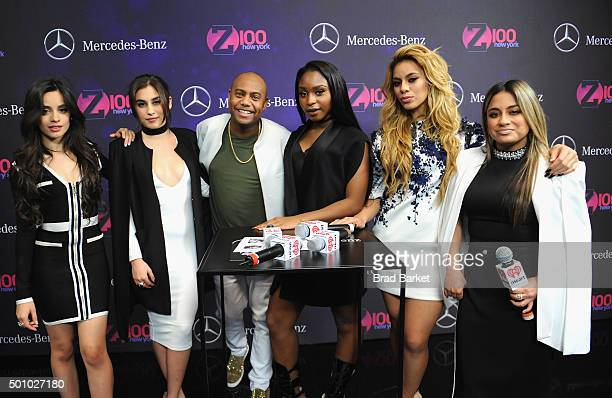Maxwell Jones and Fifth Harmony attend Z100's Jingle Ball 2015 at Madison Square Garden on December 11 2015 in New York City