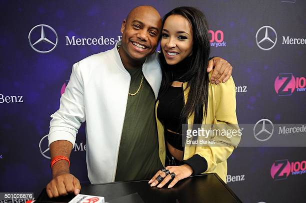 Maxwell Jones and Tinashe attend Z100's Jingle Ball 2015 at Madison Square Garden on December 11 2015 in New York City