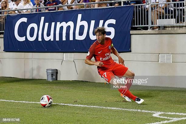 Maxwell of Paris SaintGermain FC controls the ball during the game against Real Madrid CF on July 27 2016 at Ohio Stadium in Columbus Ohio Paris...
