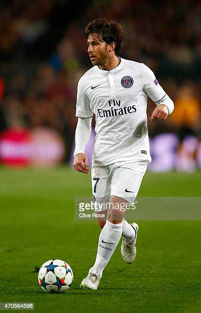 Maxwell of Paris SaintGermain in action during the UEFA Champions League Quarter Final second leg match between FC Barcelona and Paris SaintGermain...