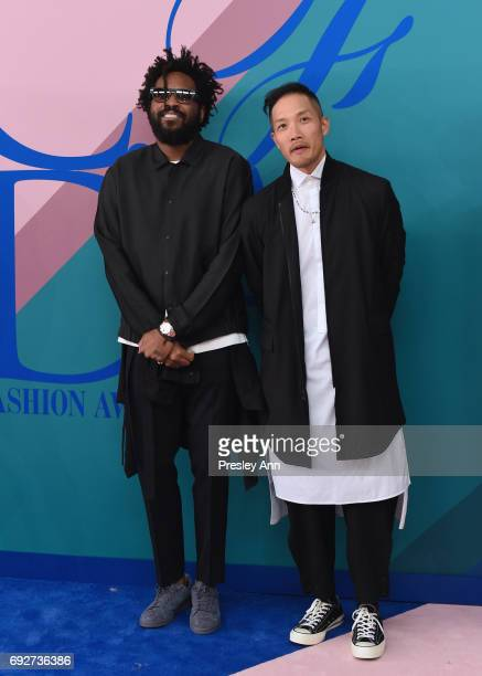 Maxwell Osborne and DaoYi Chow attend the 2017 CFDA Fashion Awards at Hammerstein Ballroom on June 5 2017 in New York City