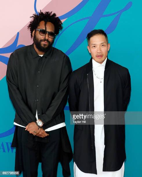 Maxwell Osbourne and Daoyi Chow attend the 2017 CFDA Fashion Awards at Hammerstein Ballroom on June 5 2017 in New York City