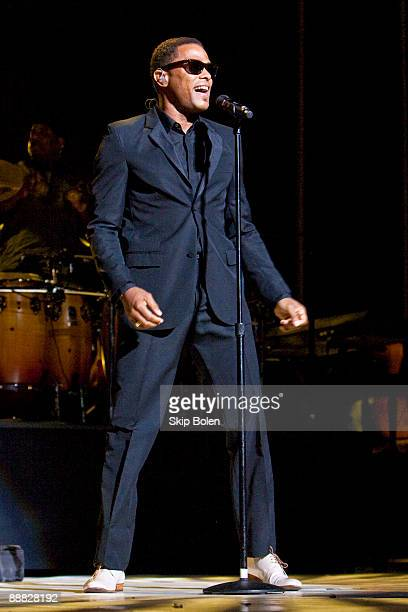 Maxwell performs during the 2009 Essence Music Festival Presented by CocaCola at the Louisiana Superdome on July 4 2009 in New Orleans Louisiana