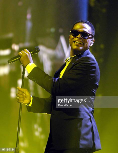 Maxwell performs during the BLACKsummers'night Tour at Joe Louis Arena on September 26 2009 in Detroit Michigan