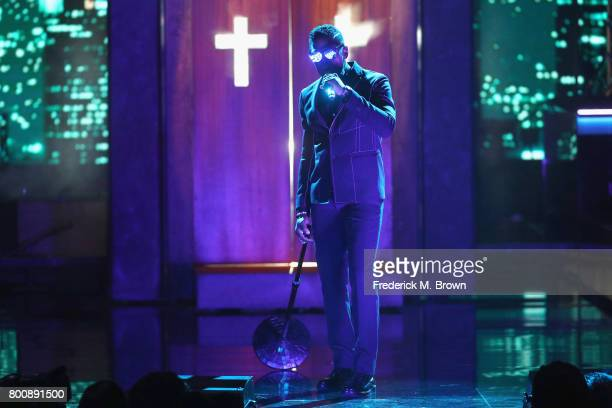 Maxwell performs onstage at 2017 BET Awards at Microsoft Theater on June 25 2017 in Los Angeles California