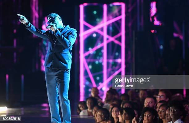 Maxwell preforms onstage at 2017 BET Awards at Microsoft Theater on June 25 2017 in Los Angeles California