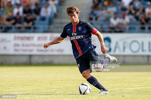 Maxwell Scherrer Cabelino Andrade of Paris SaintGermain controls the ball during the Friendly Match between Wiener Sportklub and Paris SaintGermain...