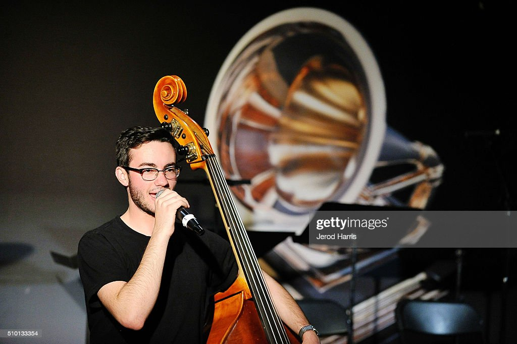 Maxwell Schwartz performs at The 58th GRAMMY Awards GRAMMY Living Room Concert GRAMMY Camp Jazz Session at The Recording Academy on February 13 2016...