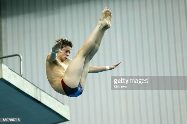 Maxwell Weinrich of the Montgomery Dive Club competes during the Senior Men's Platform Final during the 2017 USA Diving Summer National Championships...