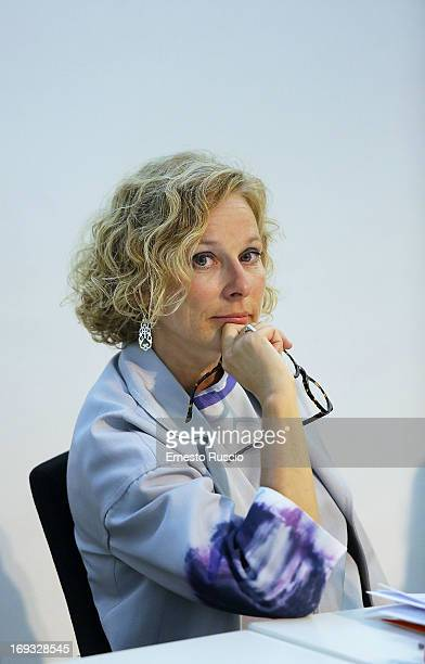 Maxxi director Giovanna Melandri attends the 'The Trinity' exhibition press conference at Maxxi Museum on May 23 2013 in Rome Italy