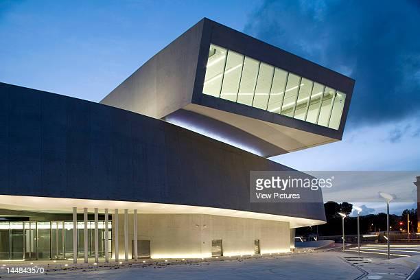 Maxxi National Museum Of 21St Century Arts Via Guido Reni Rome 4 A 00196 Roma Italy Architect Zaha Hadid Architects Twilight Exterior Of The Maxxi
