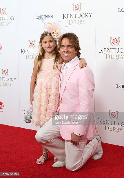 Larry Birkhead and his daughter Dannielynn age 8 arrive on the red carpet at the 141st running of the Kentucky Derby at Churchill Downs in Louisville...