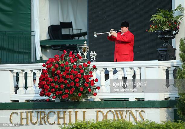 The Call to the Post is played by bugler Steve Buttleman in the 141st running of the Kentucky Derby at Churchill Downs in Louisville KY