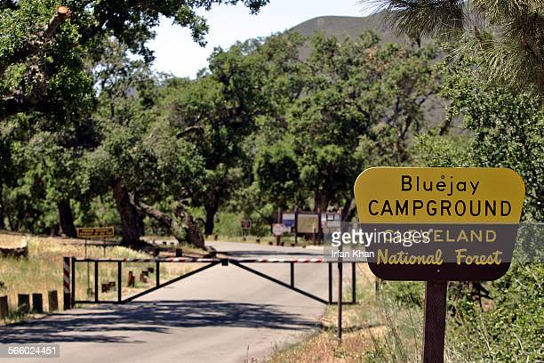 ELSINORE CA – May 06 2009 ––– A view of Bluejay campground in Cleveland National Forest that has been closed after a reported incident of mountain...