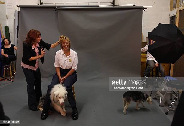 May 10 2008 CREDIT Carol Guzy/ The Washington Post via Getty Images LOCATION Washington DC CAPTION DC Police Chief Cathy Lanier brings her blind and...