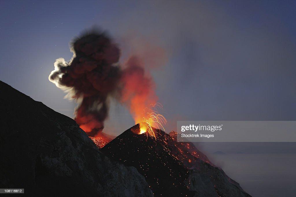 May 10, 2009 - Stromboli eruption, Aeolian Islands, north of Sicily, Italy.