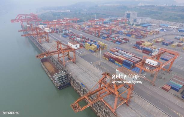 BEIJING May 10 2017 Photo taken on May 10 2017 shows the Yibin Port in southwest China's Sichuan Province The Yangtze the world's thirdlongest river...