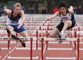 May 11 2010 Luke Buckley from St Michael's College and Anthony Kwan of Country Day School would take the final hurdle together and finish with the...