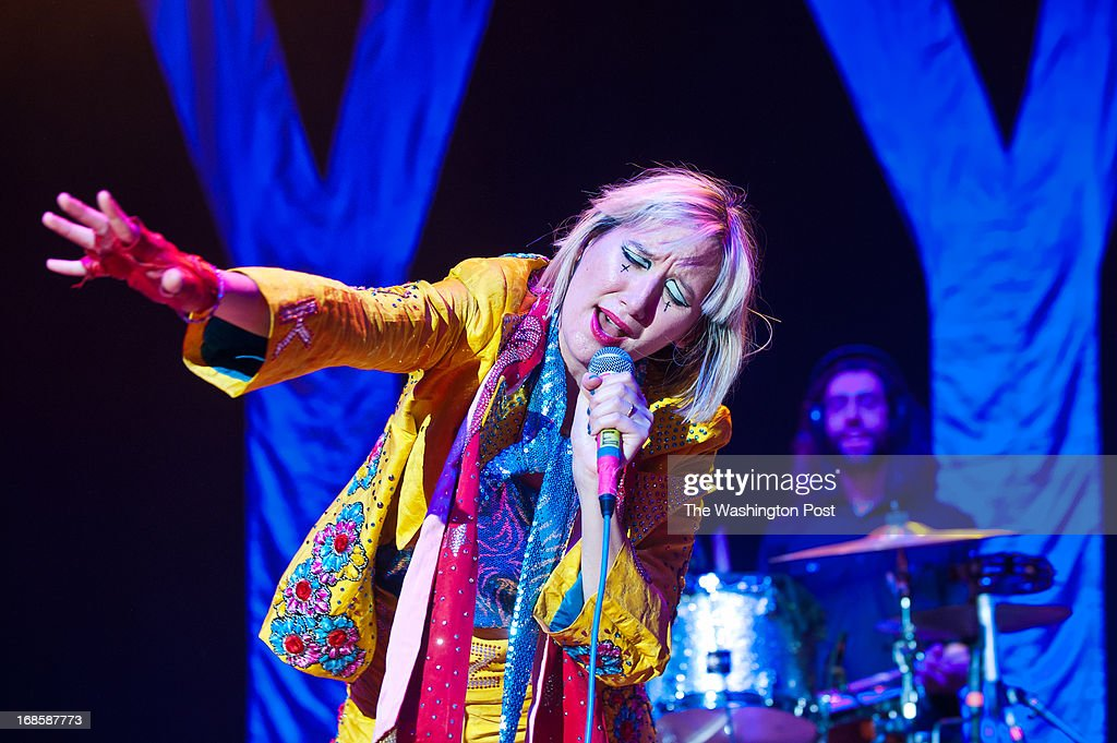 COLUMBIA, MD - May 11th, 2013 - Karen O and Brian Chase of the Yeah Yeah Yeahs perform on the Main Stage at the 2013 Sweetlife Food and Music Festival at Merriweather Post Pavilion in Columbia, MD. The band released their fourth studio album, Mosquito, earlier this year.