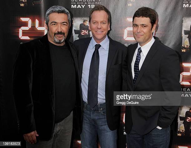 May 12 2009 Los Angeles Ca Jon Cassar Kiefer Sutherland and Carlos Bernard '24 Season Seven' Season Finale Screening Held at the Wadsworth Theater