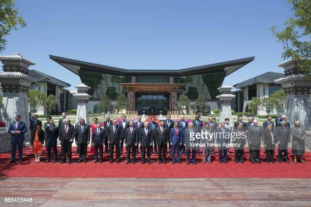 BEIJING May 15 2017 Chinese President Xi Jinping foreign delegation heads and guests pose for a group photo at the Leaders' Roundtable Summit of the...