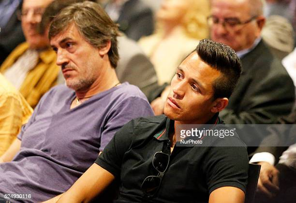 Alexis Sanchez in the Carles Puyol farewell ceremonyl held in the Auditorium 1899 of the FCB the May 15 2014 Photo Joan Valls/Urbanandsport/Nurphoto