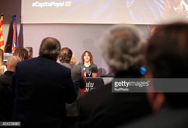 Carles Puyol farewell ceremonyl held in the Auditorium 1899 of the FCB the May 15 2014 Photo Joan Valls/Urbanandsport/Nurphoto