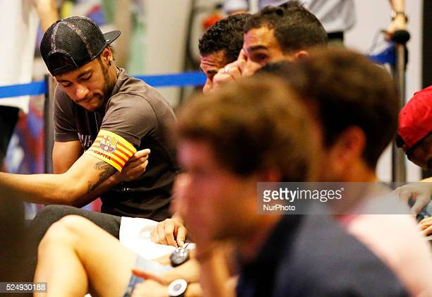 Neymar in the Carles Puyol farewell ceremonyl held in the Auditorium 1899 of the FCB the May 15 2014 Photo Joan Valls/Urbanandsport/Nurphoto