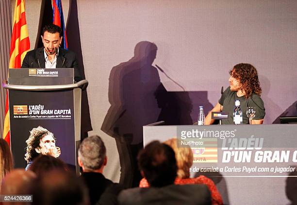 Xavi Hernandez in the Carles Puyol farewell ceremonyl held in the Auditorium 1899 of the FCB the May 15 2014 Photo Joan Valls/Urbanandsport/Nurphoto