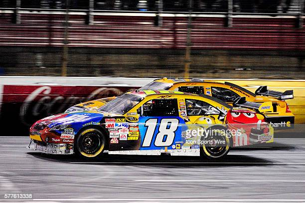Kyle Busch Joe Gibbs Racing Toyota Camry and Matt Kenseth Roush Fenway Racing Ford Taurus in the 25th NASCAR Sprint AllStar Race race at the Lowes...