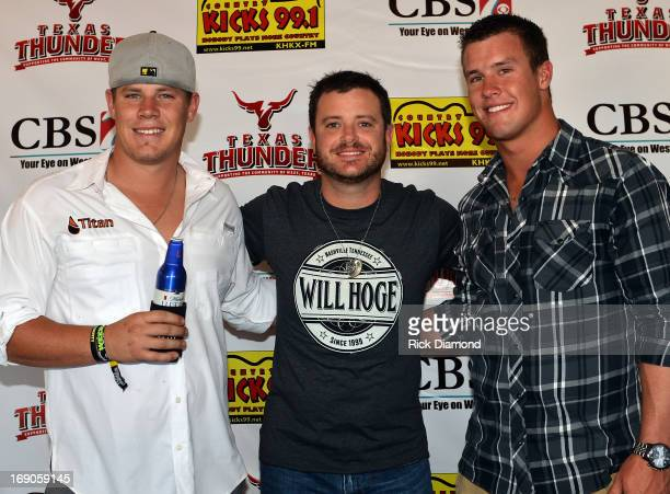 West TX Recording Artist Wade Bowen visits with Jarrod and Heath Harris sons of Capt Kenneth 'Luckey' Harris Jr who was killed in the West TX...