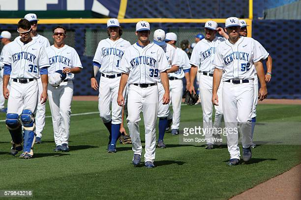 Kentucky takes the field for the opening round game of the 2015 SEC Baseball Tournament between the Kentucky Wildcats and the Auburn Tigers Auburn...