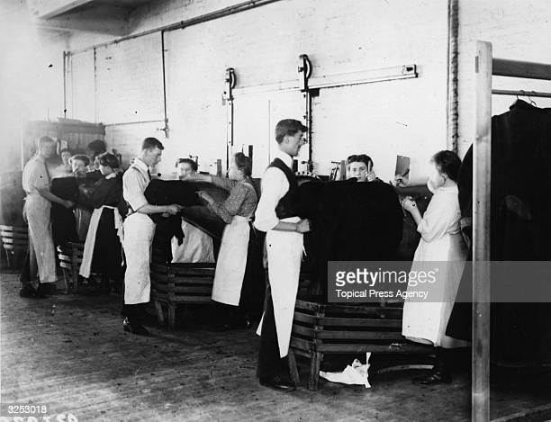 Shaping dresses after dying at Messrs Eastman's